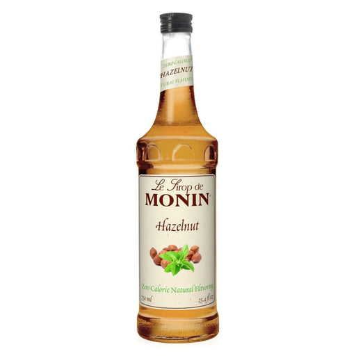 Monin Zero Calorie Natural Hazelnut Syrup 750 ml