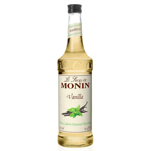 Monin Zero Calorie Natural Vanilla Syrup 750 ml