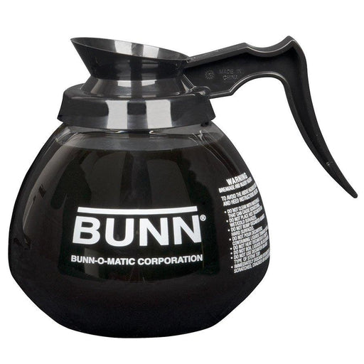 BUNN DECANTER,GLASS-BLK(12CUP)