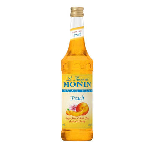Monin Sugar-Free Peach Coffee Syrup, 750 ml