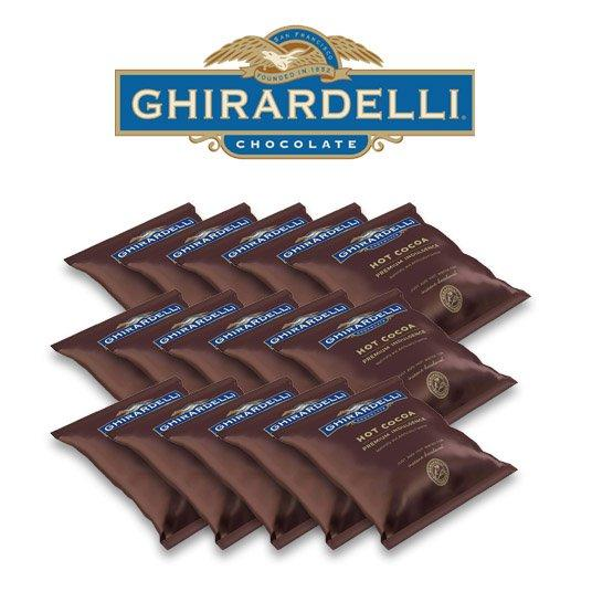 Ghirardelli Premium Hot Cocoa, Double Chocolate (15-pac)