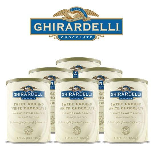 Ghirardelli Ground White Chocolate Flavor Mix, Case (6) 3 lb. Tubs