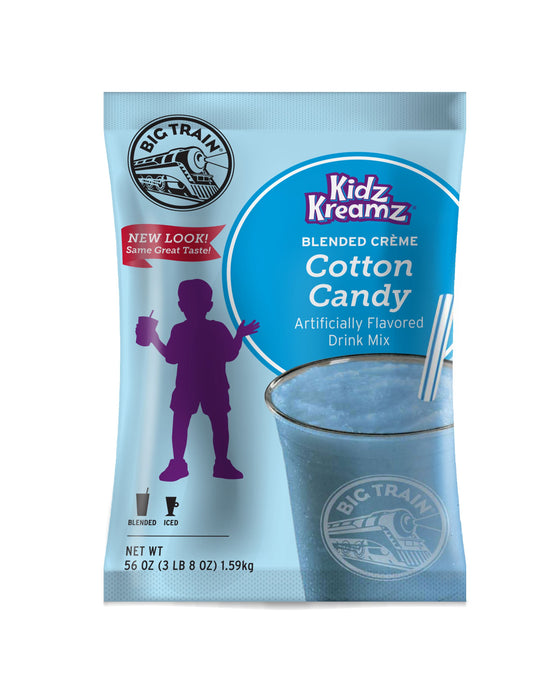 Big Train Cotton Candy Kidz Kreamz Frappe Mix (3.5lb Bag)