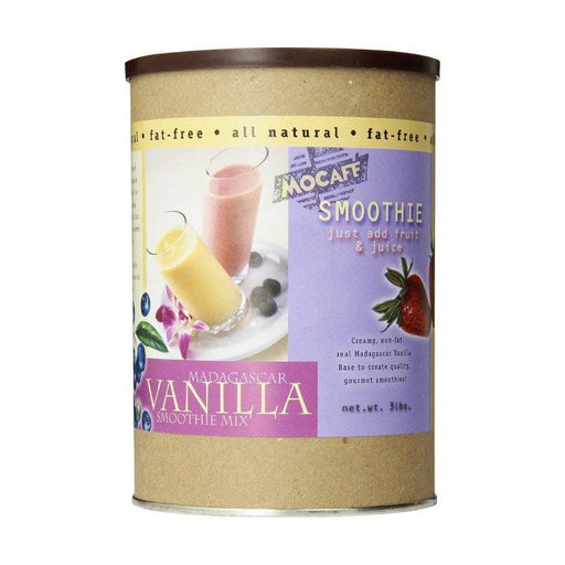 Mocafe Madagascar Vanilla Fat Free Powdered Smoothie Mix (Case of 4)
