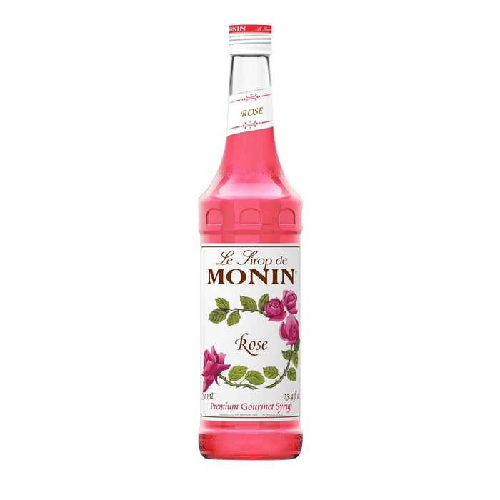 Monin Rose Coffee Syrup, 750 ml