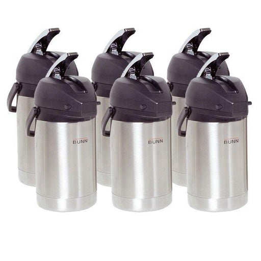 Case of 6 BUNN AIRPOTS, SST 2.5L