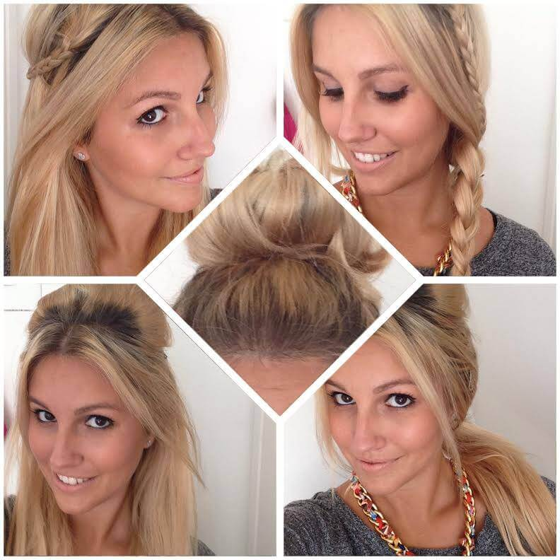 Hair Tutorial 5 Different Back To School Hairstyles Cliphair