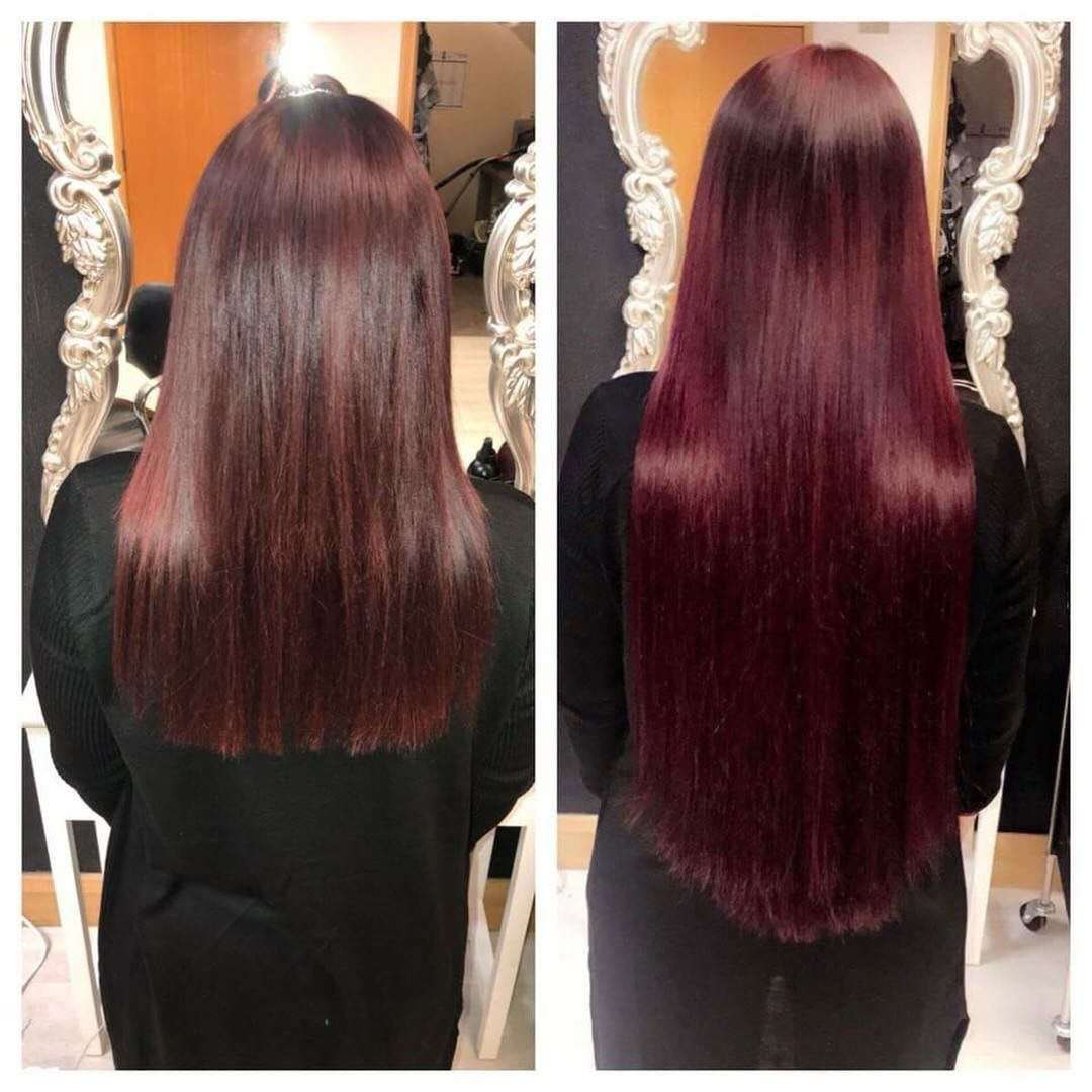 mahogany red deep wine hair extensions
