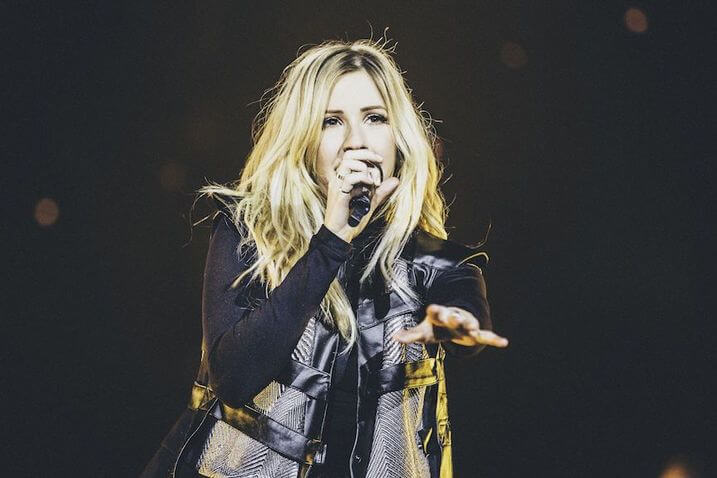 Ellie Goulding hairstyle at glastonbury festival