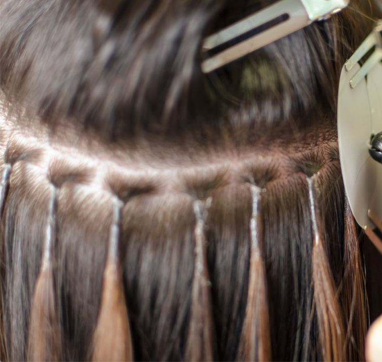 how to fit micro ring hair extensions at home