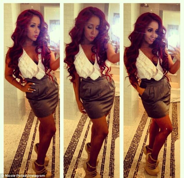 Snooki Red Hair Extensions 82