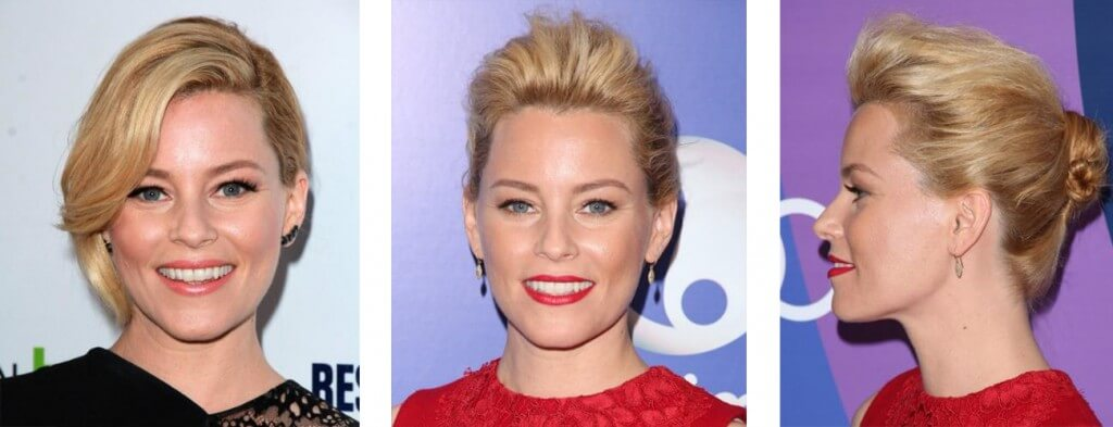 Elizabeth Banks up do, casual hair up do