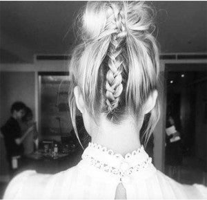 braided-top-knot-hairstyle-using-clip-in-hair-extensions