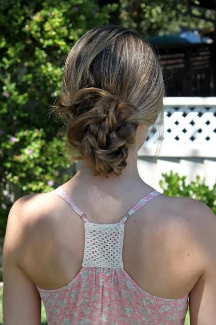 clip in extensions-knotted-braid-bun