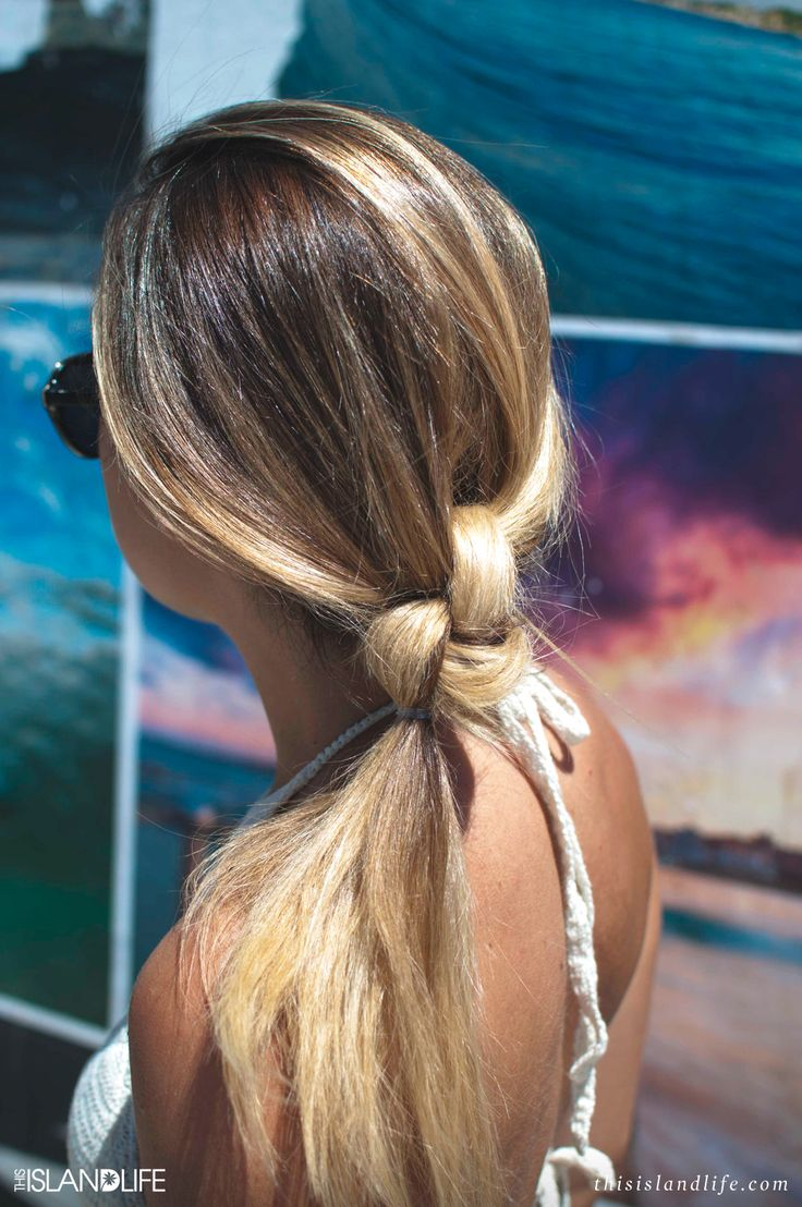 clip in extensions-knotted-ponytail