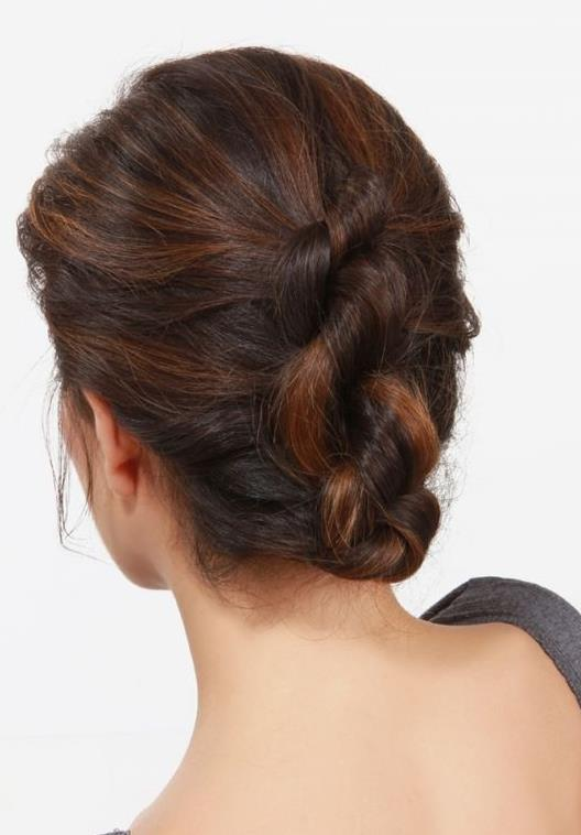 clip in extensions-knotted-updo