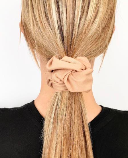clip in hair extensions-80s-style-scrunchies