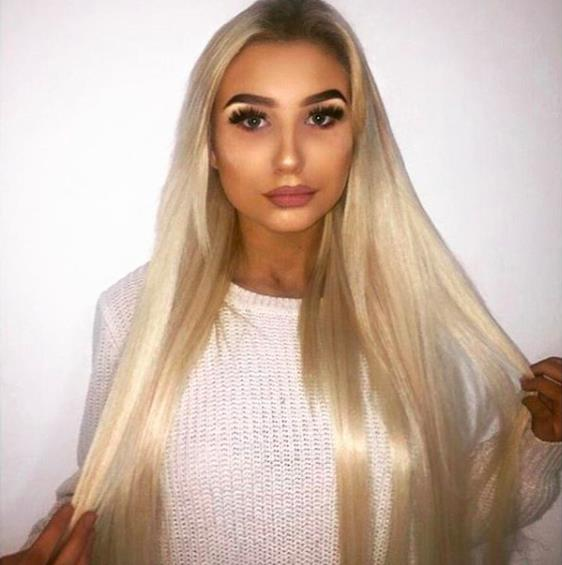 clip in hair extensions-application
