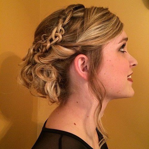 clip in hair extensions-autumn-updo-chain-braided
