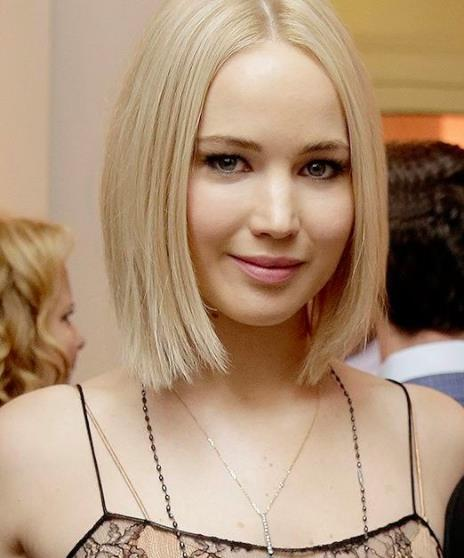 clip in hair extensions-jennifer-lawrence-straight-bob