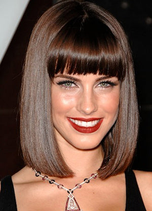 clip in hair extensions-style-bob-sleek-fringe1