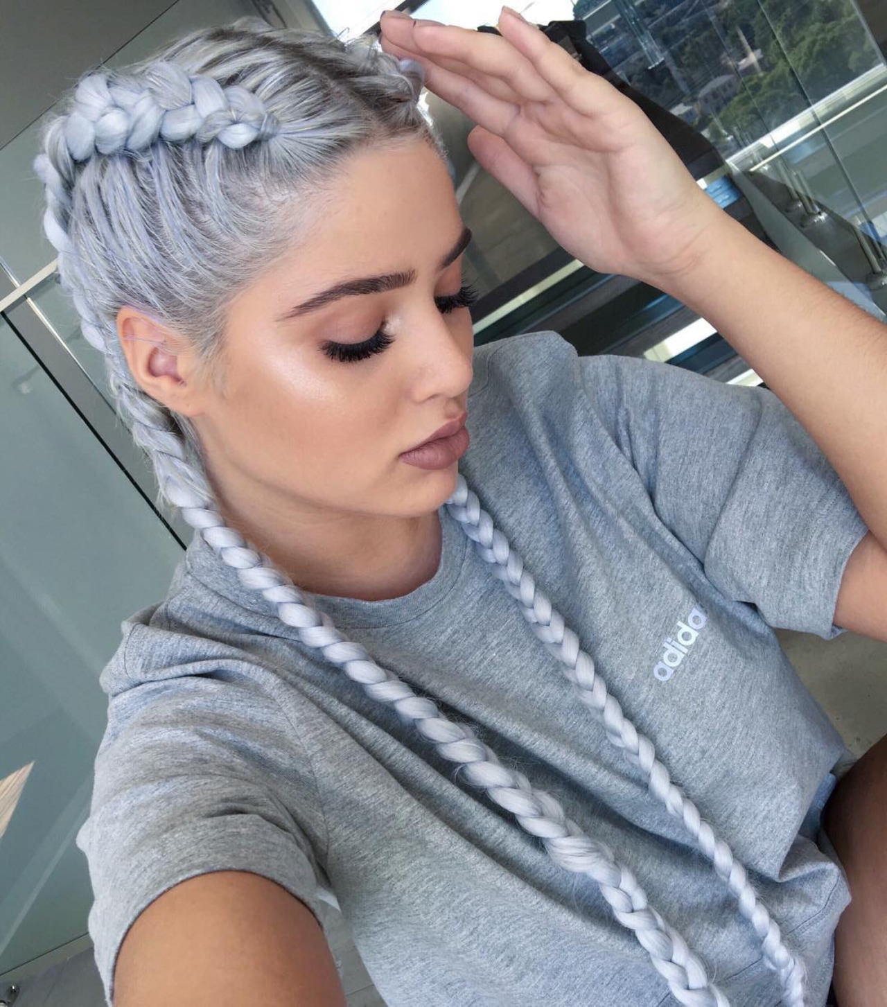 Get That Look Wet Hair Perfect Fancy Double Braid Hair Extensions
