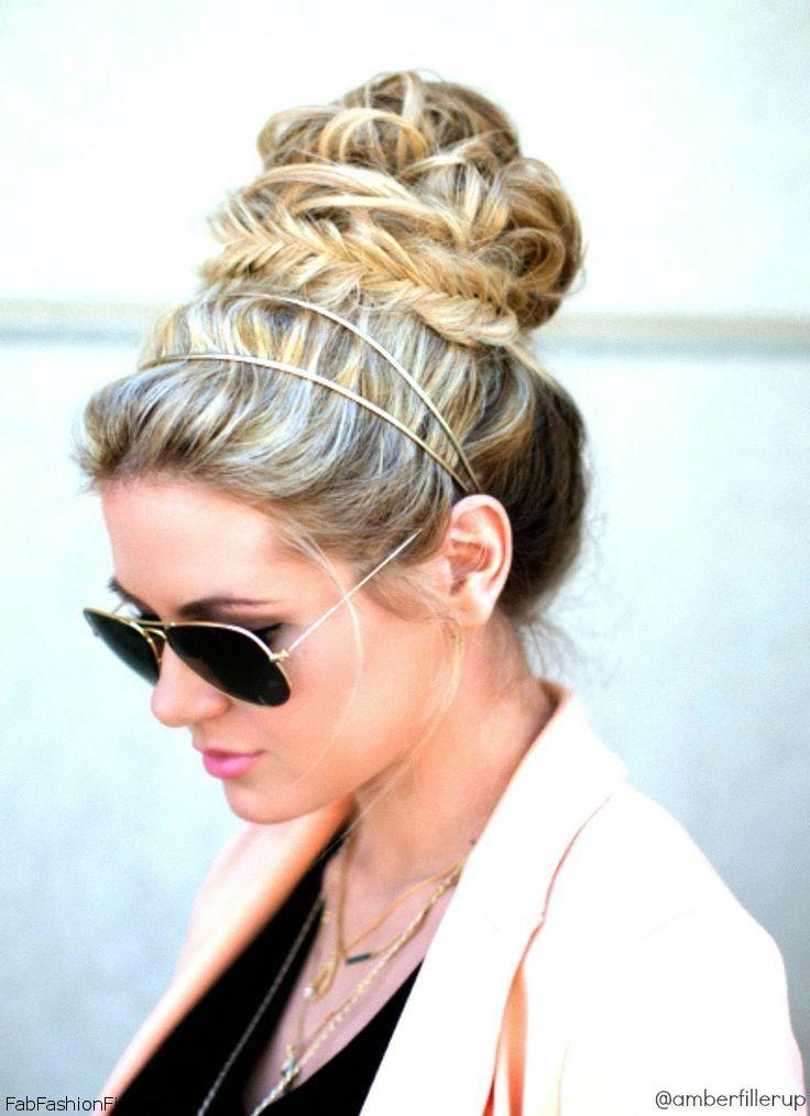 cliphair-extensions-fishtail-bun-on top