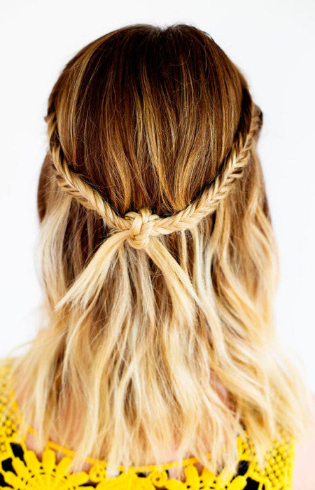 cliphair-extensions-half-up-fishtail-knot