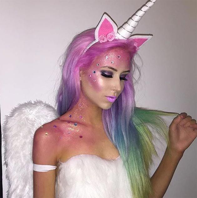 cliphair-extensions-killer-halloween-unicorn