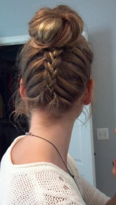 Get That Look The Upside Down Braid Bun Cliphair Uk
