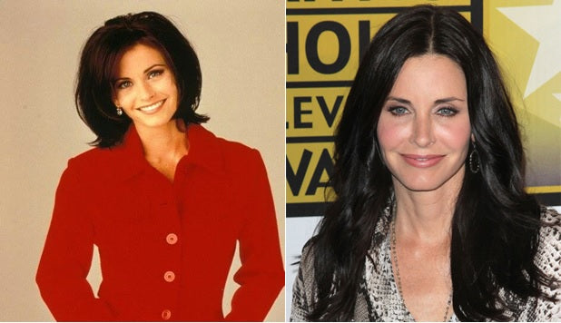 clipin hair extensions-90s-inspirations-courtney-cox mix