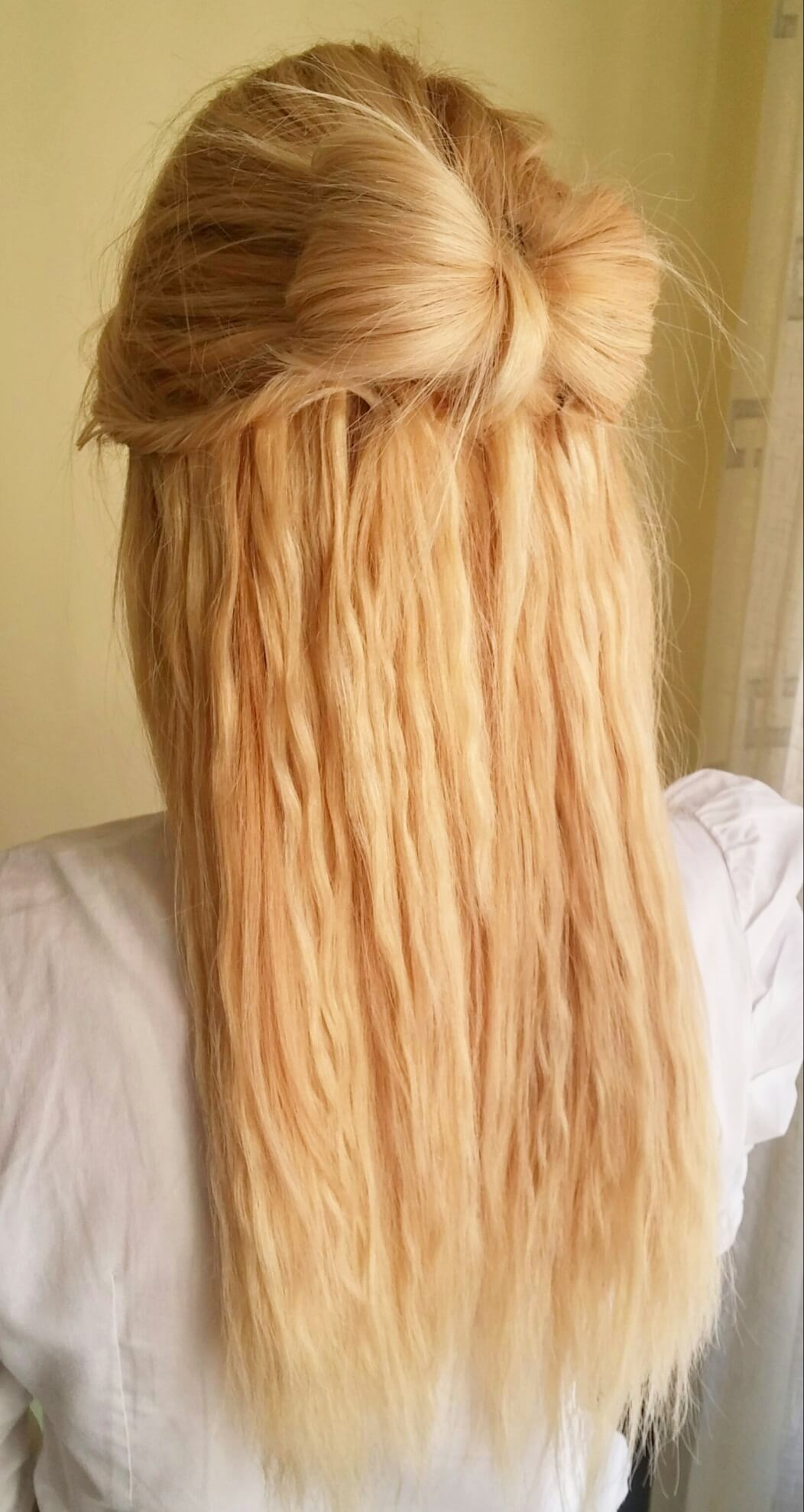 Pleasant Bow Half Up Do Hairstyle Using Cliphair Hair Extensions Hair Short Hairstyles For Black Women Fulllsitofus