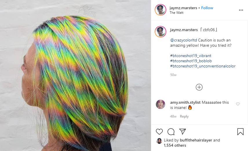 how to get holographic iridescent hair
