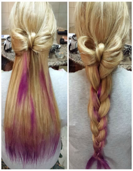 bow inspired hairstyles