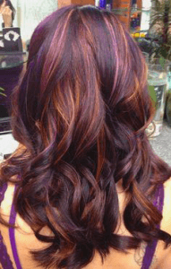 extension in deep plum red