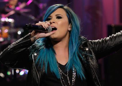 Demi gorgeous blue tone