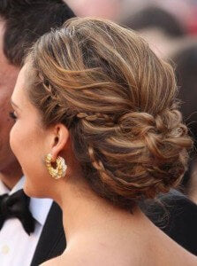 Steal her style jessica alba cliphair style tips hair intertwining braids look from the back pmusecretfo Image collections