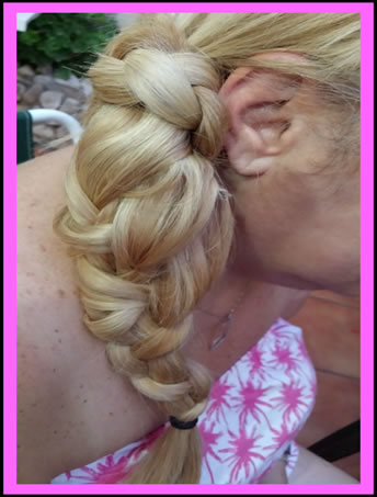 Attach your plaited ponytail