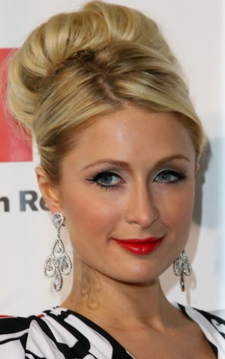 Paris hilton bun hairstyle