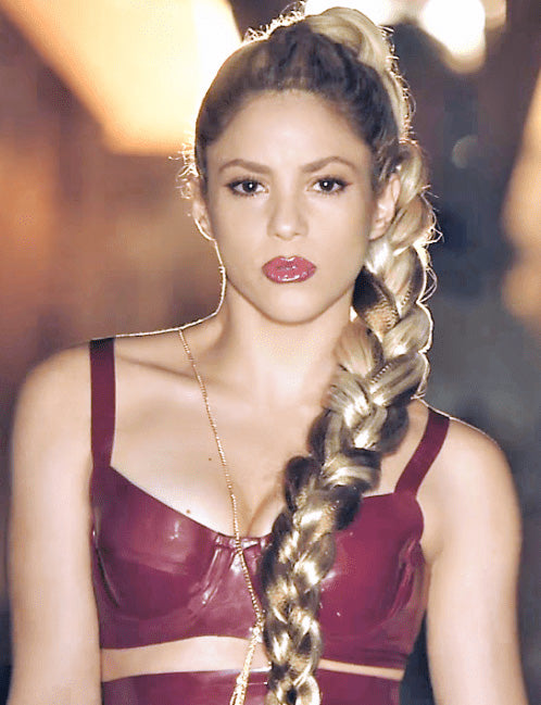 shakira-long-ponytail-braid-hairstyle