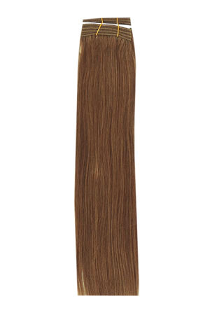 15 Inch Remy Human Hair Weft/Weave Extensions - Medium Golden Brown (#10)