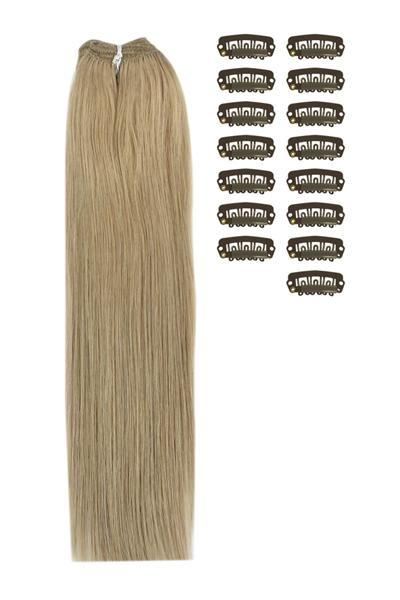 15 Inch DIY Remy Clip in Human Hair Extensions - Lightest Brown (#18)
