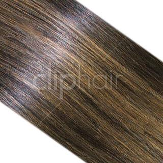 15 Inch One Piece Top-up Remy Clip in Human Hair Extensions - Natural Black/Blonde Mix (#1B/27)
