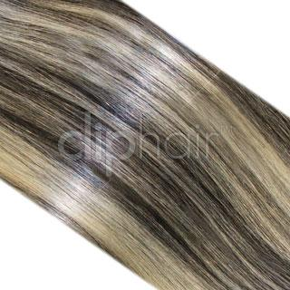 15 Inch One Piece Top-up Remy Clip in Human Hair Extensions - Natural Black/Blonde Mix (#1B/613)