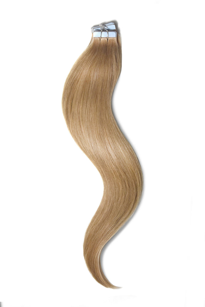 Tape in Remy Human Hair Extensions, Strawberry/Ginger Blonde (#27) Tape in Hair Extensions Cliphair UK