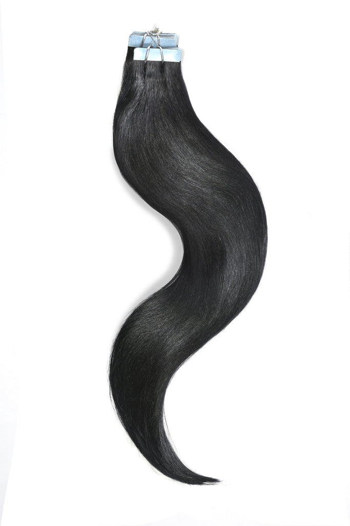 tape in hair extensions jet black 1