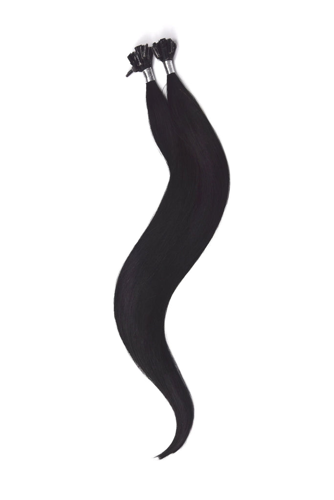 Nail Tip / U-Tip Pre-bonded Remy Human Hair Extensions - Jet Black (#1)