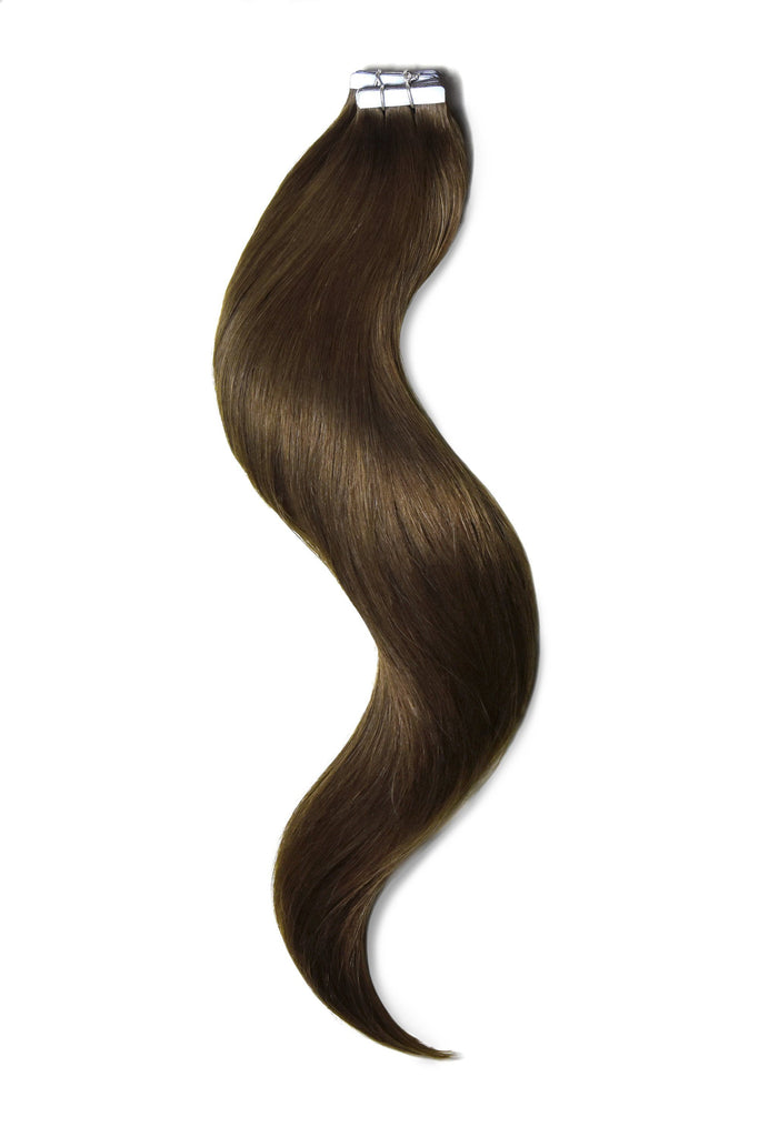 Tape in Remy Human Hair Extension Mousey Brown (#6B)