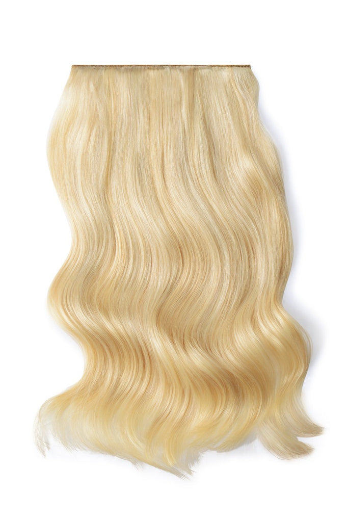 Double Wefted Full Head Remy Clip in Human Hair Extensions - Ash Blonde/Bleach Blonde Mix (#22/613)