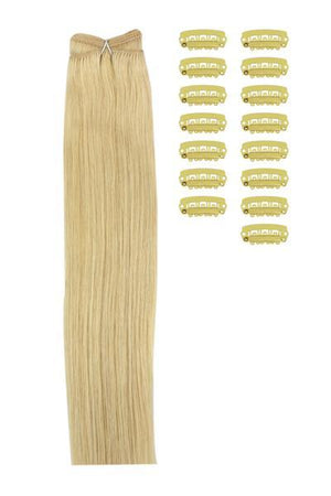 15 Inch DIY Remy Clip in Human Hair Extensions - Light Ash Blonde (#22)